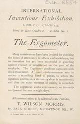 Advert for the Ergometer